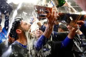 Image result for dodgers champagne shower