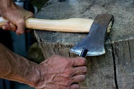 Image result for axe sharpening