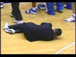 Image result for coach k laying down gif